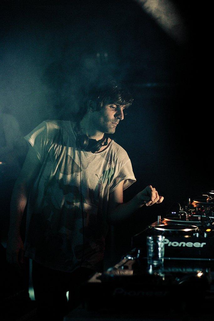 DJs performing...
